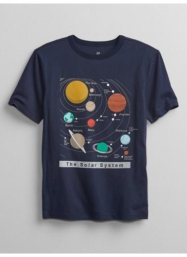 Gap Kısa Kollu Grafik T-Shirt Lacivert